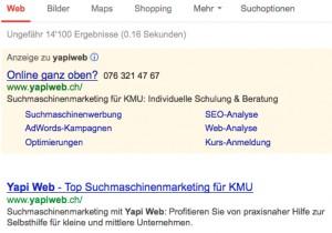 Yapi Web sur Google